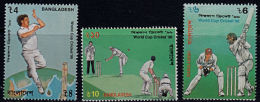 B0589 BANGLADESH 1996, SG 593-5 Cricket World Cup   MNH - Bangladesh
