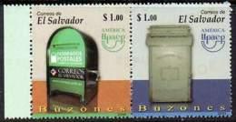 EL SALVADOR 2011. América UPAEP: Boites Aux Lettres. Mail Boxes (paire)