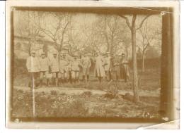 MILITAIRES GRADES    PHOTO SEPIA ANIMEE  12X9CM - Guerre, Militaire