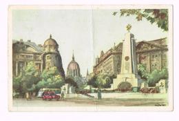 Zador Istvan : Szovjet Emlekmu A Szabadsagteren - 1957 - Magyar - Hongrie - Timbre/Stamp - Hongrie