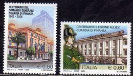 ITALIA REPUBBLICA ITALY REPUBLIC 2006 LE ISTITUZIONI COMANDO GENERALE E LEGIONE ALLIEVI GUARDIA DI FINANZA MNH - 6. 1946-.. Republik