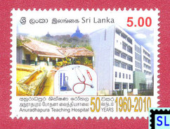 Sri Lanka Stamps 2010, Anuradhapura Teaching Hospital, MNH - Sri Lanka (Ceylon) (1948-...)