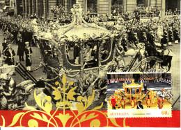 Australia 2013 Maxicard Scott #3900 60c Coronation Coach 60th Anniversary Coronation First Day Issue - Maximumkarten (MC)