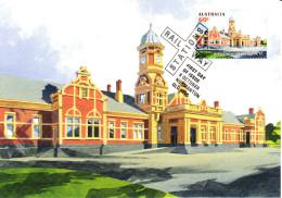 Australia 2013 Maxicard Scott #3996 60c Maryborough Historic Railway Stations First Day Issue - Maximumkarten (MC)