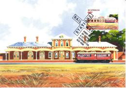 Australia 2013 Maxicard Scott #3998 60c Hay Historic Railway Stations First Day Issue - Maximumkarten (MC)