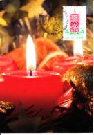 Australia 2013 Maxicard Scott #4011 60c Candle Christmas First Day Issue - Maximumkarten (MC)