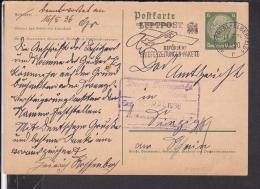 Ganzsache Deutsches Reich P 229  ? Werbestempel Wuppertal - Elberfeld 1936 - Briefe U. Dokumente