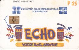 BOTSWANA - ECHO, Voice Mail Service, Chip GEM3.3, Used - Botswana
