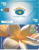 BAHAMAS ISL.(chip) - Frangipani(new Chipside), Medium Number In Box, Chip GEM6, Used - Bahamas