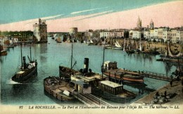 LA ROCHELLE Le Port Et L'Embarcadère Des Bateaux Pour L'île De Ré  - Très Bon état - La Rochelle