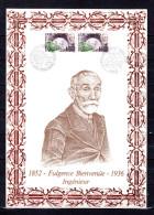 """FRANCE 1987 : Encart 1er Jour N°té En Soie Rare (974/1300) """" METRO / FULGENCE BIENVENUE """" 2 X N° YT 2452. Parf état. FDC - Tramways"""