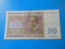 Belgique Belgium 20 Francs 1956 P.132b - [ 6] Treasury