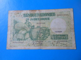 Belgique Belgium 50 Francs 1938 P.106 - 50 Francos-10 Belgas