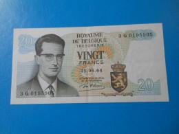 Belgique Belgium 20 Francs 1964 P.138 SUP XF - [ 6] Treasury