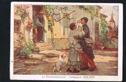 MILITARIA- Le Permissionnaire -Campagne 1914-1916 - CPA Voyagée En 1916 - Paypal Sans Frais - Guerra 1914-18
