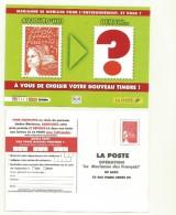CARTE  REPONSE NEUVE   SONDAGE POUR  NOUVELLE MARIANNE DES FRANCAIS /MARIANNE DE LUQUET - Entiers Postaux