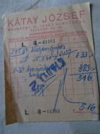 142219  Hungary  - Budapest  Kátay József  Vasnagykereskedés   1940's - Facturas & Documentos Mercantiles