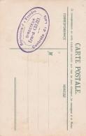 Cachet Tampon Répression Des Fraudes Contrôle De Lait Directeur ERNEST CRUZEL Au Verso Carte Postale Suisse - Cartes De Visite