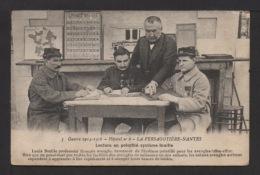 CPA. LA PERSAGOTIÈRE-NANTE.Hôpital N°6.Lecture En Pointillé Systhème BRAILLE.Soldats Aveugles. Voir La Suite >>> - Guerre 1914-18
