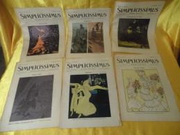 12 Zeitschriften SIMPLICISSIMUS Aus Dem Jahre 1906 - Zeitungen & Zeitschriften
