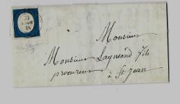 Duché De Savoie « LANSLEBOURG »LSI - 7,5gr. - Tarif à 20c. (1.1.1851/31.10.1959)S.N°8  –   20c. V. EMM - Sardaigne