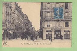 NEUILLY SUR SEINE : Rue De Sablonville, Vue Sur La Société Générale. Banque. 2 Scans. Edition L'Abeille - Neuilly Sur Seine