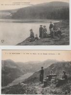 16 / 11 / 111  -  LE  MONT  DORE  -  2  CPA  -VALLÉE  DE  SANCY  &  LAC  DE  SERVIÈRES - Le Mont Dore