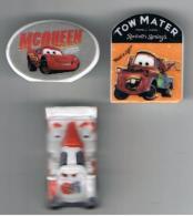 Lot 3 Fèves Automobile  Disney Pixar - Disney