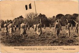 Eclaireuses De France Le Chant   Carte Envoyée De La Haye Malherbe( 27) - Scoutismo