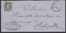 LETTRE  - BRIEF N° 30 LP. 144  GEMBLOUX / BAUDOIN & DETHIER >> FALISOLE - 1872 - 1869-1883 Leopold II