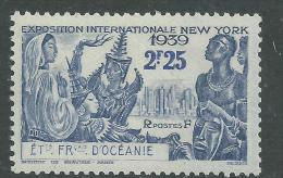 Océanie  N° 129  XX Exposition Internationale De New York : 2 F. 25 Outremer Gomme Tropicale Sinon TB