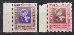 Vatican City 1953 Goretti 2v  (+margin) ** Mnh (33395B) - Vaticaanstad
