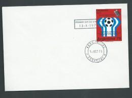 Paraguay 1975 Soccer World Cup Argentina Intelsat Transmission 5g Single On FDC - Paraguay