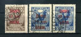 1924 URSS SEGNATASSE N.5.6.7 USATI - Taxe