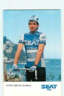 Antxo LEKUONA LIZARRAGA. 2 Scans. Cyclisme. Seat Orbea 1986 - Radsport