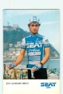 Jesus ARAMBARRI ARREGUI. 2 Scans. Cyclisme. Seat Orbea 1986 - Radsport