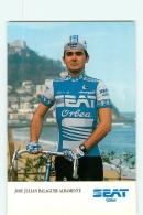 Jose Julian BALAGUER ALBAMENTE . 2 Scans. Cyclisme. Seat Orbea 1986 - Radsport