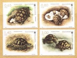 Lot BUL 1619set T1 - Bulgaria 2016  -  SPUR-THIGHED TURTLE (WWF) - W.W.F.