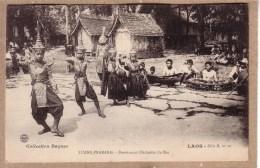 LAOS - LIANG PRABANG - COLLECTION RAQUEZ SERIE B , N° 10 - DANSEURS ET ORCHESTRE DU ROI - Laos