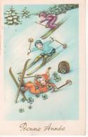 Bonne Année: Skieurs En Herbe - Nieuwjaar