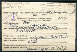 "UDSSR/Germany 1948 Lager Lebenszeichen POW II.WK  ""Prisoner Of War,Lager 7213/3.""mit Tagesrollstempel "" 1 Beleg - Militaria"