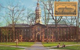 D26564 CARTE MAXIMUM CARD FD 1956 USA - PRINCETON UNIVERSITY NASSAU HALL CP ORIGINAL - Architecture