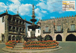 D26578 CARTE MAXIMUM CARD 1980 PORTUGAL - REPUBLIC SQUARE VIANA DO CASTELO CP ORIGINAL - Architecture