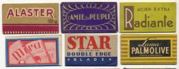 Collection 6 Lames Rasoir 6 Razor Blades Radiante , Amie Du Peuple, Alaster, Star 6 NX Brooklyn, Lama Palmolive , Mira - Autres Collections