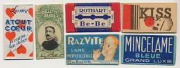 Collection 6 Lames Rasoir 6 Razor Blades Kiss, Mincelame, RazVite, Rotbart Be-Be,  Gillette, Atout Coeur - Autres Collections
