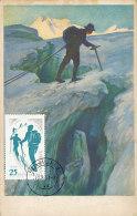 D26592 CARTE MAXIMUM CARD RR 1961 ROMANIA - MOUNTAIN CLIMBING CP ORIGINAL - Climbing