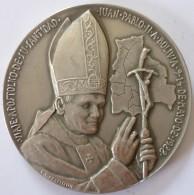 BOLIVIA 1988. Medalla Visita Papa Juan Pablo II. Plata 50.81gr. 52.0mm. 4 Scan. See Desc. - Gettoni E Medaglie