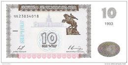 Armenia - Pick 33 - 10 Dram 1993 - Unc - Arménie