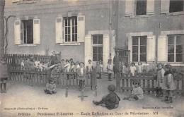 CPA 45  ORLEANS PENSIONNAT LAURENT ECOLE ENFANTINE ET COUR DE RECREATION VII - Orleans