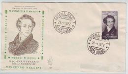 1951 - FDC VENETIA CLUB N. 127 - VINCENZO BELLINI - NON VIAGGIATA - F.D.C.